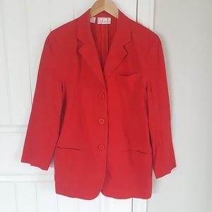 Women's Rafaella Red Linen Blazer size 10